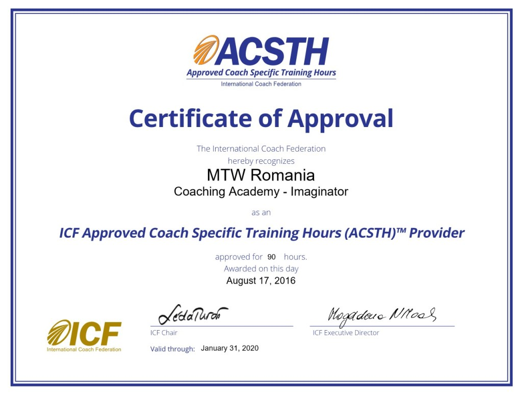 Certificat Coaching School ACSTH