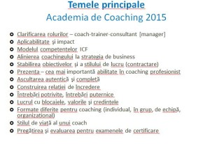 Teme Academia Coaching 2015